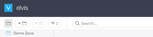 The Folder browser of Elvis 6.38.