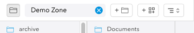 The icons of the Folder browser.