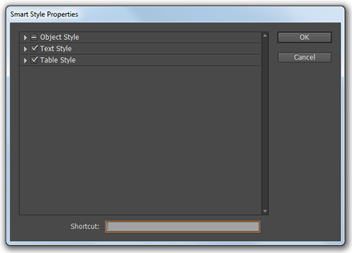 The Smart Styles Properties dialog.