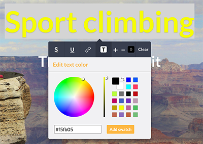 Changing the text color