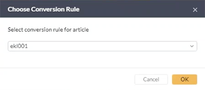 Choosing a Conversion Rule