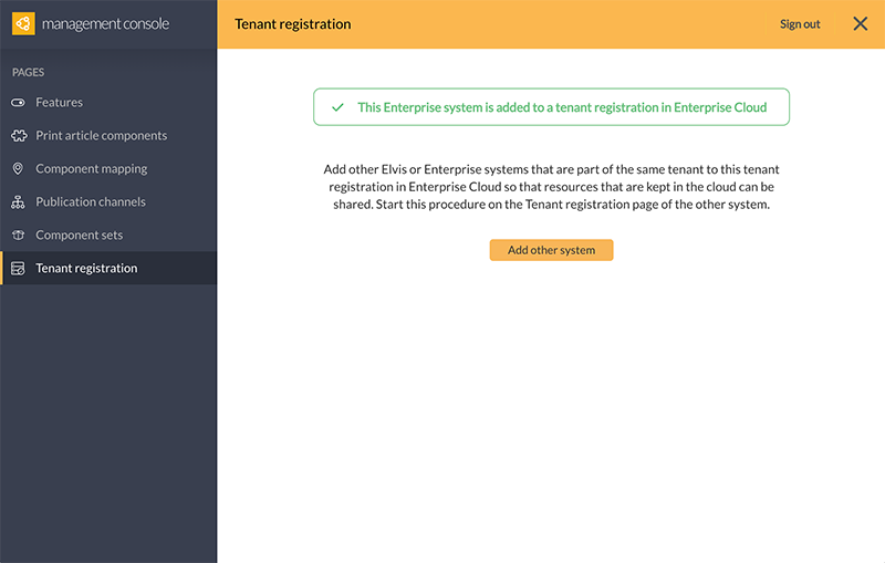 Confirmation when a new tenant registration is created.