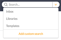 The Add Custom Search option
