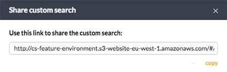 Copying a Custom Search link