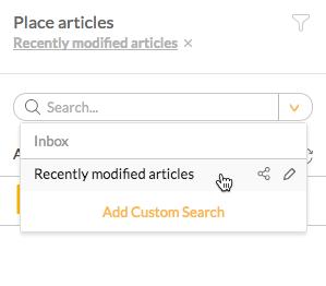 Using a Custom Search
