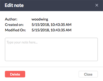 The Inline Note window.