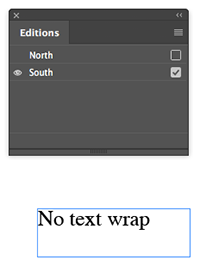 Text wrap example - no wrap applied