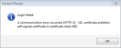 The SSL error