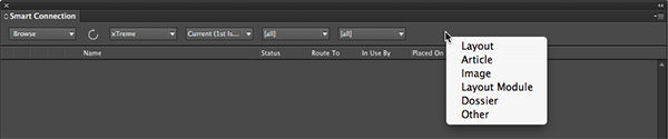 The filter in the context menu