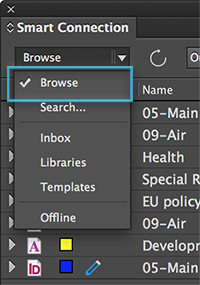 The Browse option in the Search menu