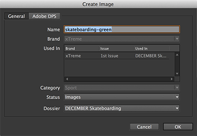 The Create Image dialog box