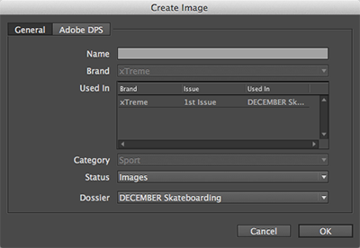 The Create Image dialog box for a Planned image