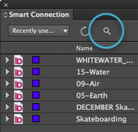 The Search button in the Smart Connection panel