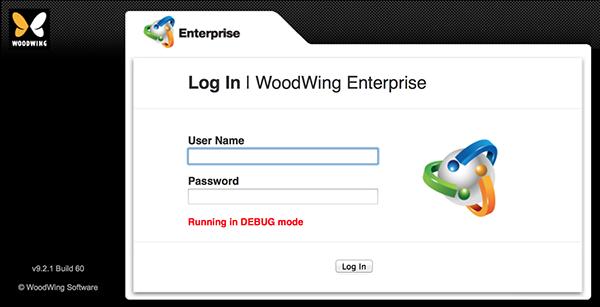 The 'DEBUG' error in the Log In screen