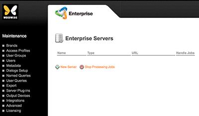 The Enterprise Servers page