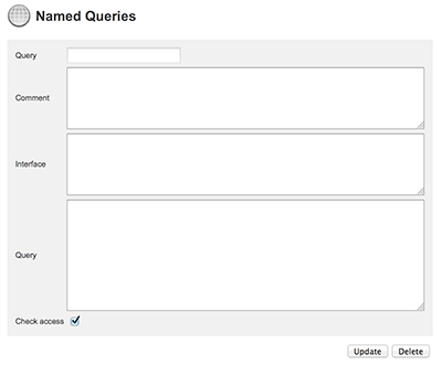 The Named Queries page