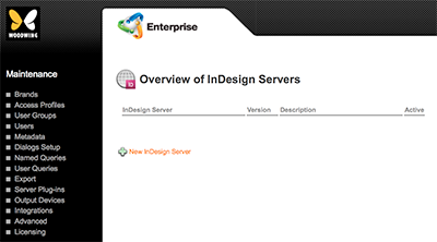 The Overview of InDesign Servers page.ac