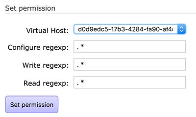 Setting the Virtual Host permission