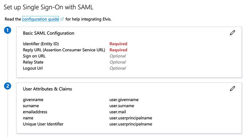 Setting up SAML