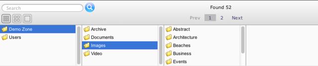 The folder browser