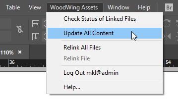 Updating all content via the Assets menu