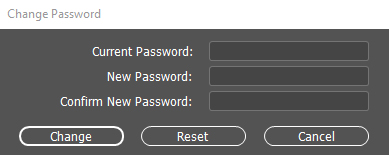 The Change Password dialog.