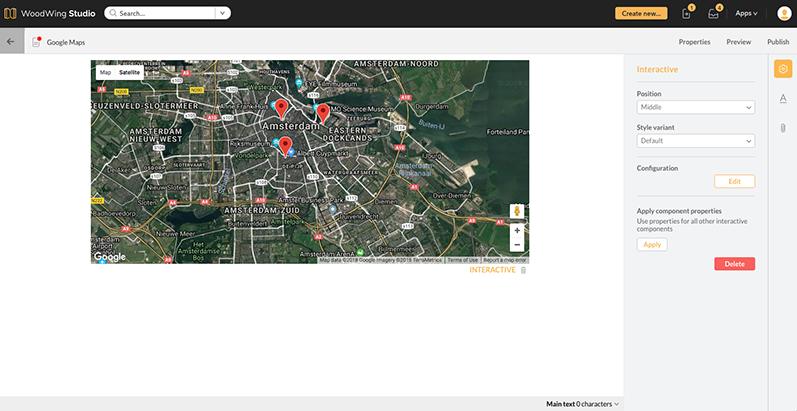 An edited Google Map