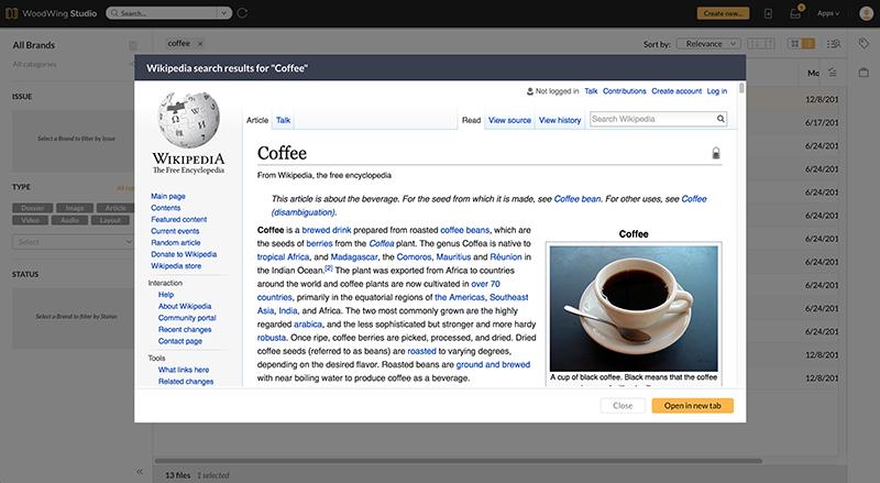Custom context menu result