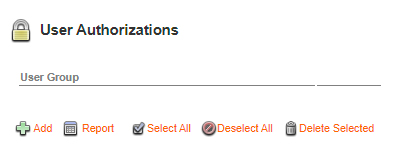 The User Authorizations section on the Brand Maintenance page