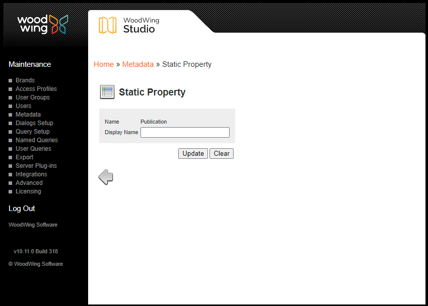 Editing a static property