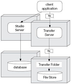 Studio Server setup with a separate File Transfer folder