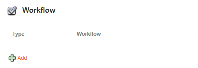 The Workflow options on the Brand Maintenance page